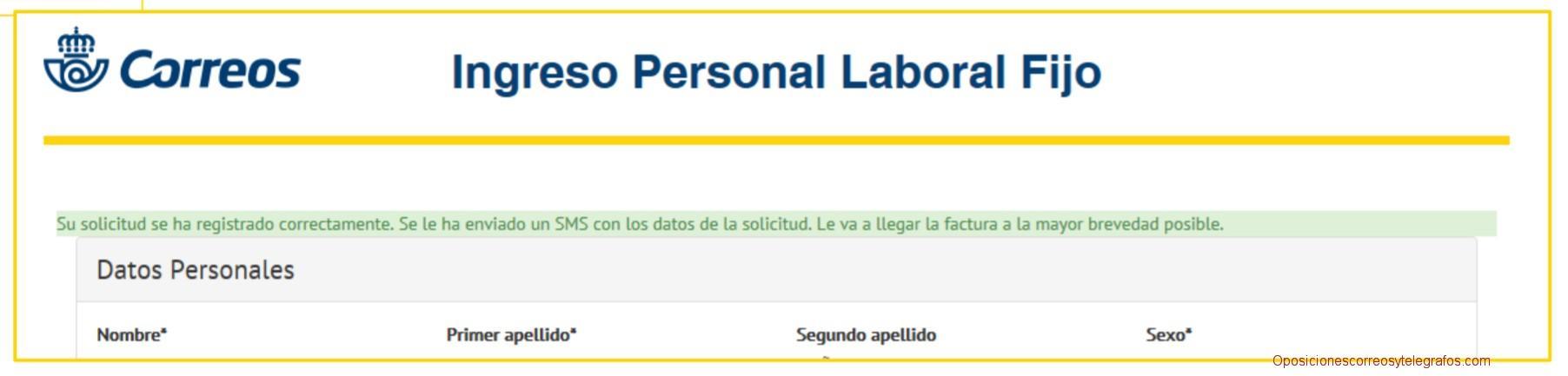 verificacion pago tasa oposiciones correos