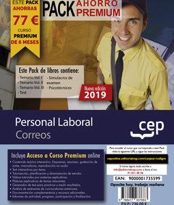 Pack Ahorro Premium de Libros Oposiciones Correos. Personal Laboral + Curso Premium online 2019 de 6 meses